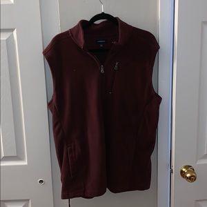 Burgundy Fleece Vest